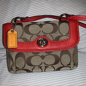 Small coach over the shoulder purse